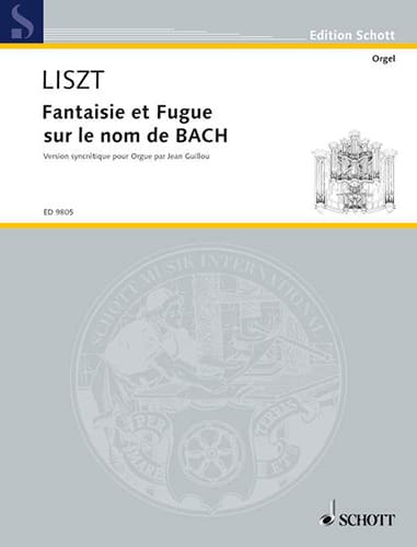 Franz Liszt - Fantasy and Fugue on Bach's Name - Partition - di-arezzo.com