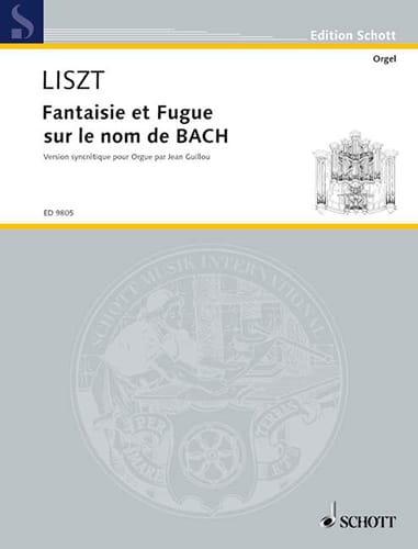 Franz Liszt - Fantasy and Fugue on Bach's Name - Partition - di-arezzo.com