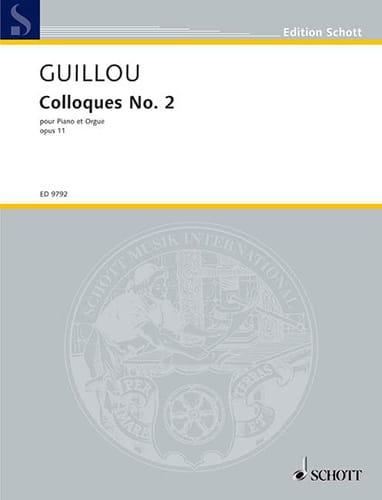 Colloque N° 2 Opus 11 - Jean Guillou - Partition - laflutedepan.com