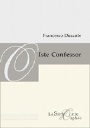 Francesco Durante - Iste Confessor. Driver - Partition - di-arezzo.co.uk