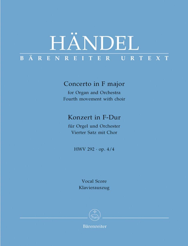 Concerto En Fa Majeur HWV 292. 4ème Mouvement - laflutedepan.com