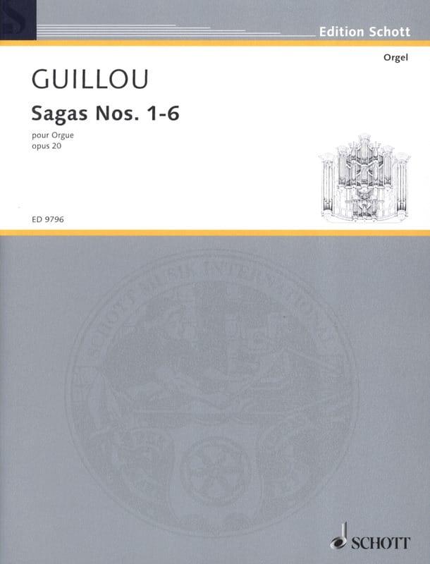 Sagas 1-6 Opus 20 - Jean Guillou - Partition - laflutedepan.com