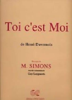 Toi C'est Moi - Moisés Simons - Partition - Opéras - laflutedepan.com