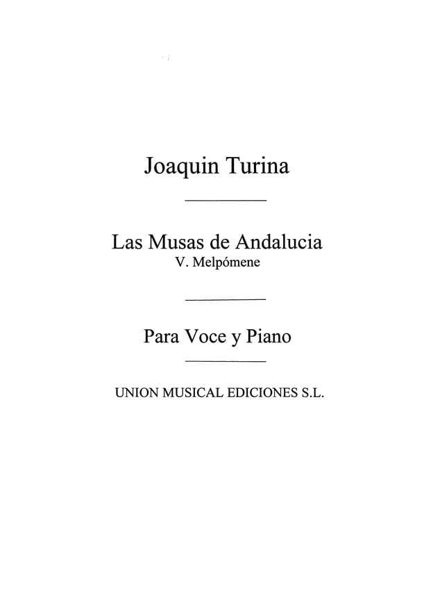 Melpomene Op. 93-5. Archive - Joachim Turina - laflutedepan.com