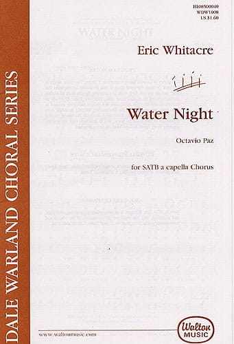 Eric Whitacre - Water Night - Partition - di-arezzo.co.uk