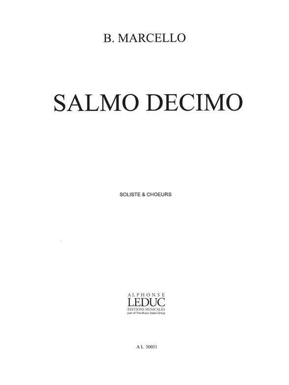 Salmo Decimo A 4. Choeur - Benedetto Marcello - laflutedepan.com