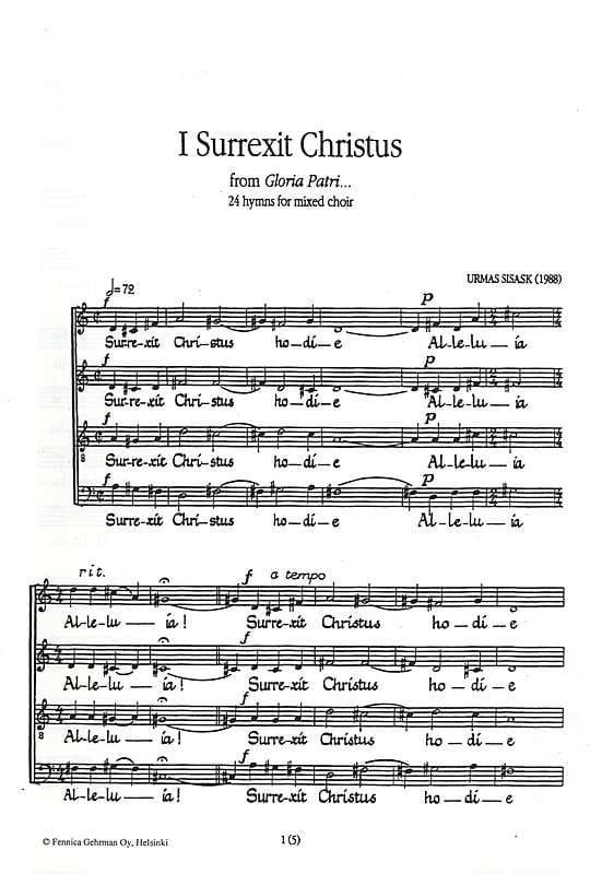 Surrexit Christus - Urmas Sisask - Partition - laflutedepan.com