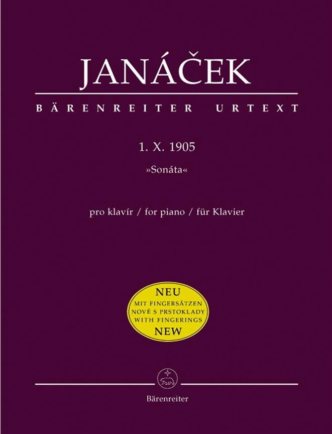 Leos Janacek - Sonata 1 X 1905. New Edition - Partition - di-arezzo.co.uk