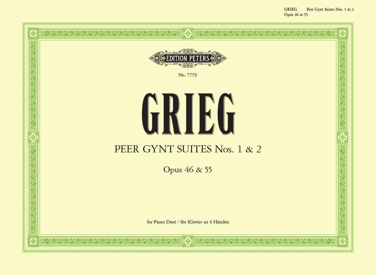 Edward Grieg - Peer Gynt Suites Opus 46 and 55. 4 Hands - Partition - di-arezzo.co.uk