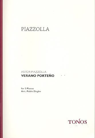 Astor Piazzolla - Verano Porteno. 2 Pianos - Partition - di-arezzo.co.uk