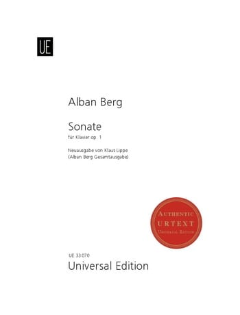 Sonate Opus 1 - BERG - Partition - Piano - laflutedepan.com