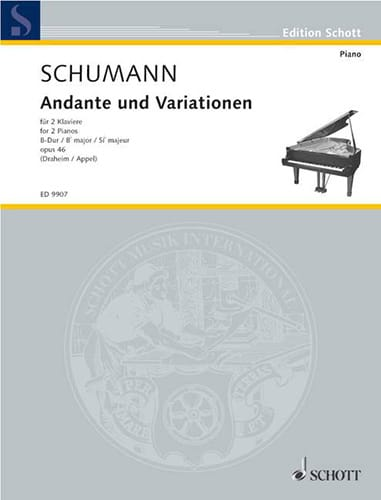 SCHUMANN - Andante and Variationen Opus 46. 2 Pianos - Partition - di-arezzo.co.uk