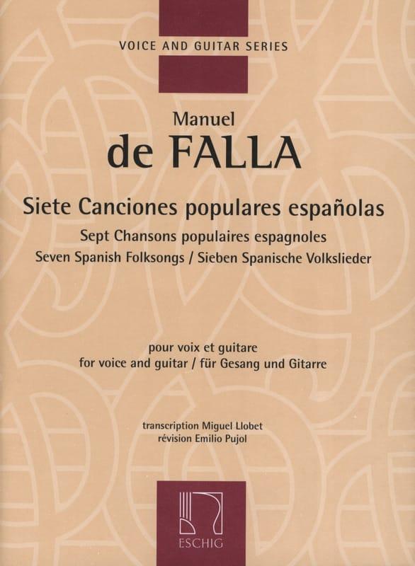 DE FALLA - 7 Canciones Populares Espanolas. - Partition - di-arezzo.es
