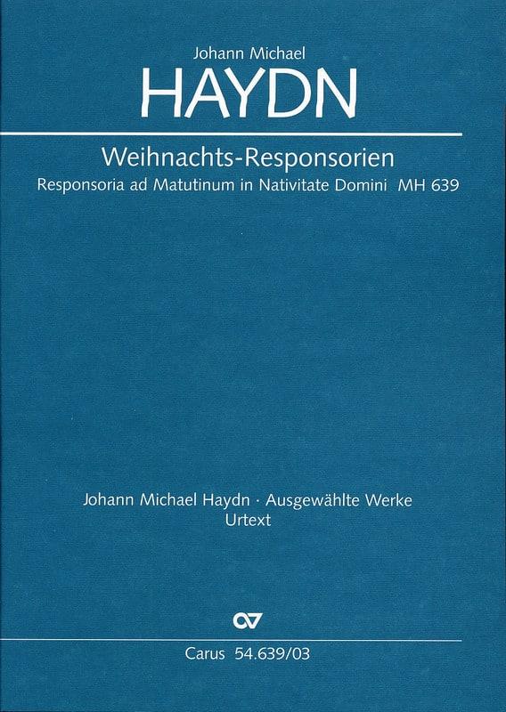 Weihnachts-Responsorien Mh 639 - Michael HAYDN - laflutedepan.com