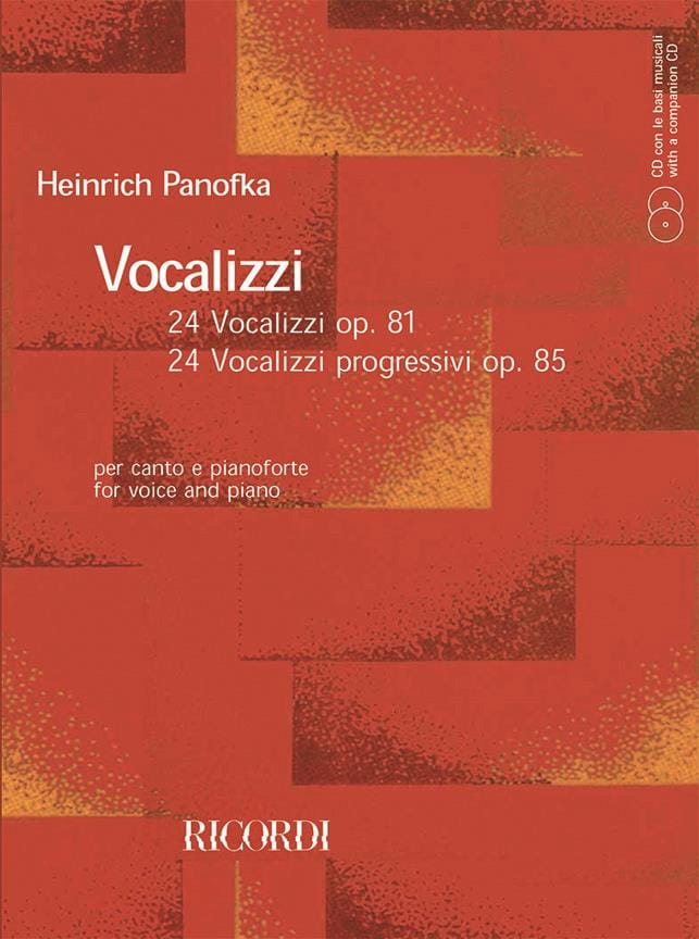 Heinrich Panofka - Vocalizzi Opus 81 and 85 - Partition - di-arezzo.co.uk