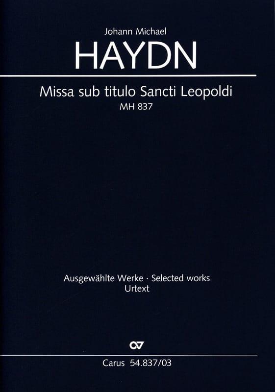 Missa Sub Titulo Santi Leopoldi Mh 837 - laflutedepan.com