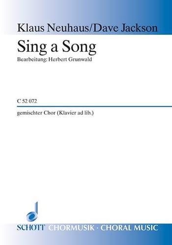 Sing A Song Satb - Jackson - Partition - Chœur - laflutedepan.com
