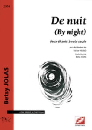 De Nuit (By Night) - Betsy Jolas - Partition - laflutedepan.com