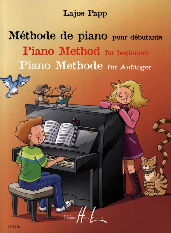 Lajos Papp - Piano Method for Beginners - Partition - di-arezzo.co.uk
