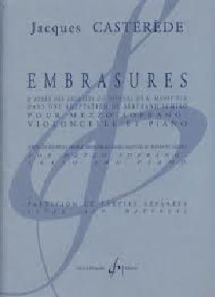 Embrasures - Jacques Castérède - Partition - laflutedepan.com