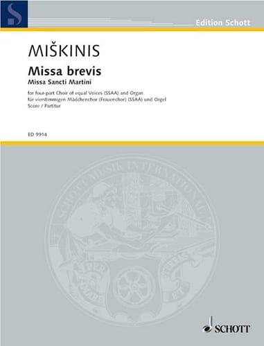 Missa Brevis - Vytautas Miskinis - Partition - laflutedepan.com