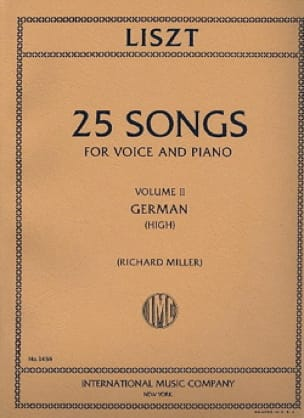 25 Songs Volume 2. Voix Haute - LISZT - Partition - laflutedepan.com