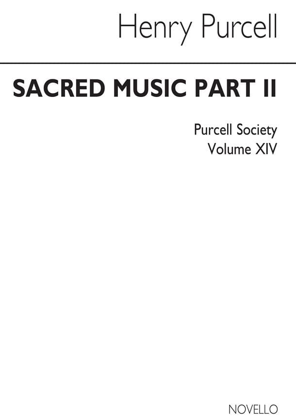 Sacred Music Part 2 Volume 14 - PURCELL - Partition - laflutedepan.com