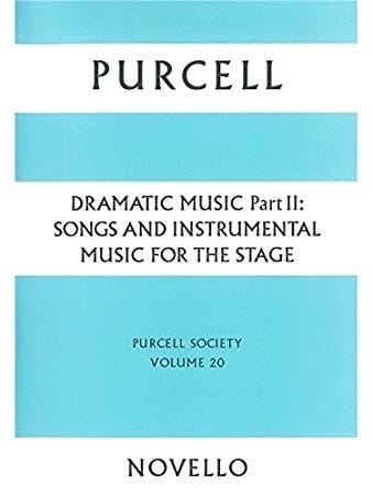 Henry Purcell - Dramatic Music Volume 2 - Partition - di-arezzo.co.uk
