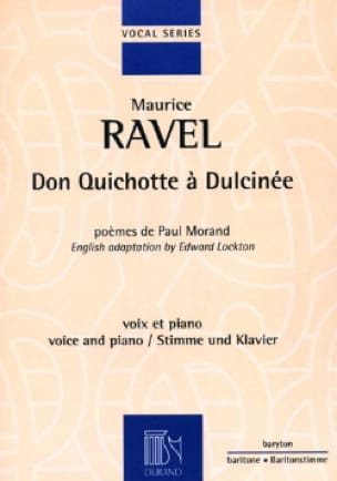 Maurice Ravel - Don Quixote To Dulcinea - Partition - di-arezzo.com