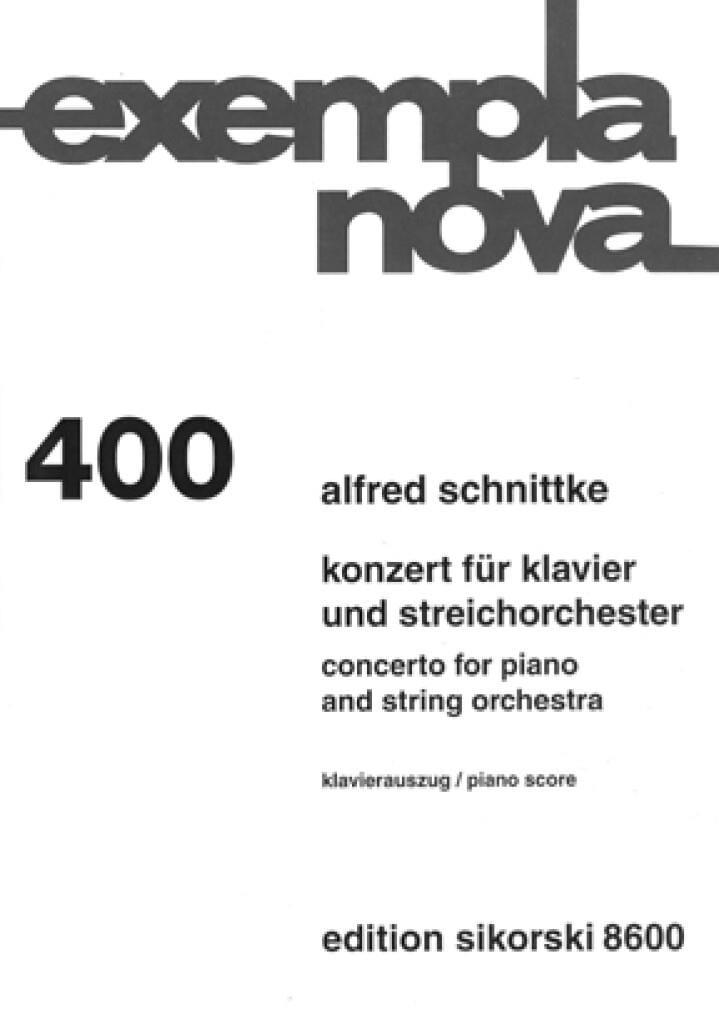 Concerto Pour Piano et Orchestre A Cordes - laflutedepan.com