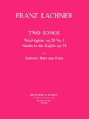 Franz Lachner - 2 Songs - Partition - di-arezzo.com