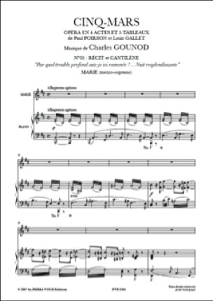 Nuit Resplendissante. Cinq-Mars - Charles Gounod - laflutedepan.com