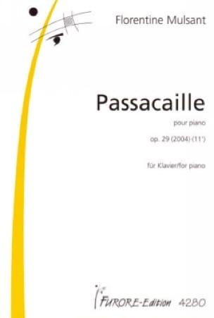 Passacaille Op. 29 - Florentine Mulsant - Partition - laflutedepan.com
