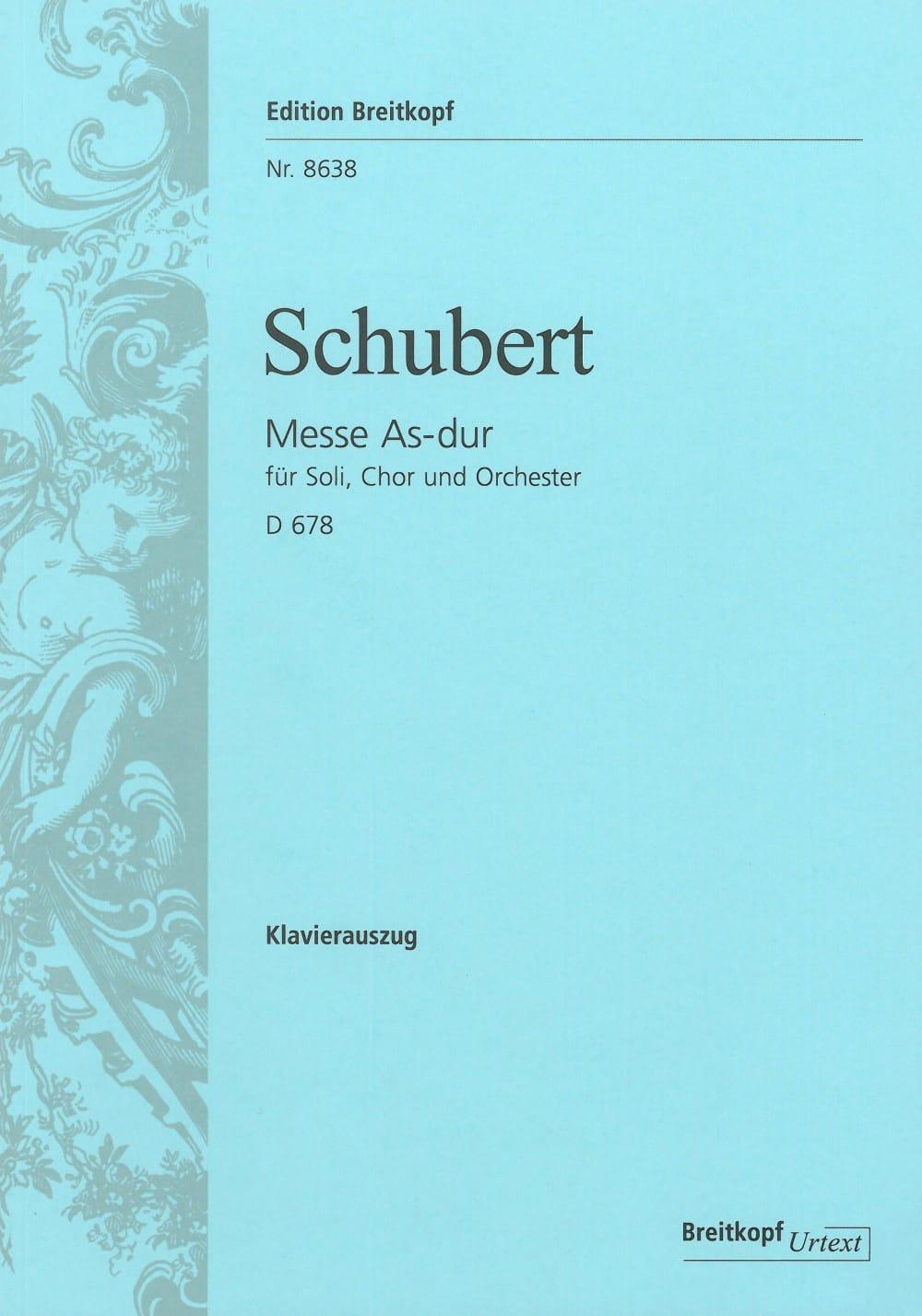 Messe En la B Majeur D 678 - SCHUBERT - Partition - laflutedepan.com
