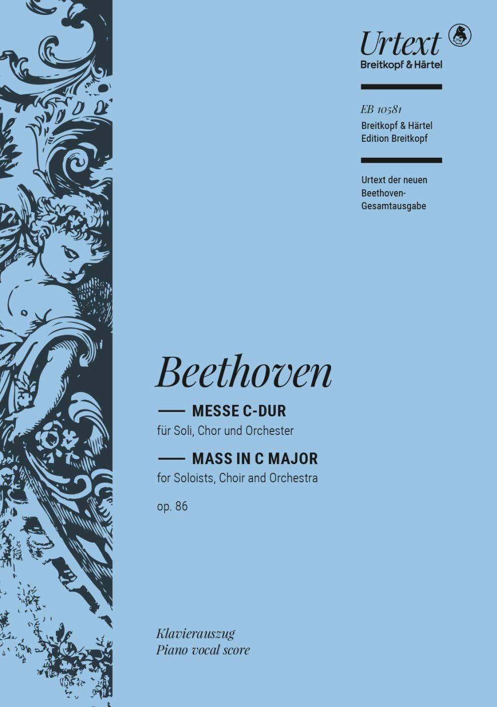 BEETHOVEN - Mass In Ut Opus 86 - Partition - di-arezzo.com