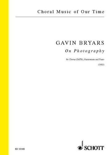On Photograpy - Gavin Bryars - Partition - Chœur - laflutedepan.com