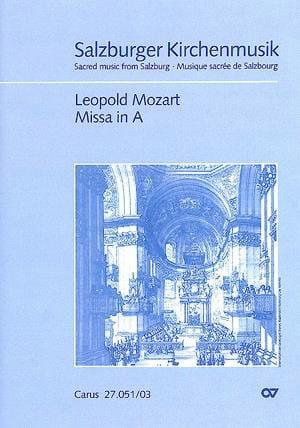 Missa In A Carlson IA3 - Leopold Mozart - Partition - laflutedepan.com