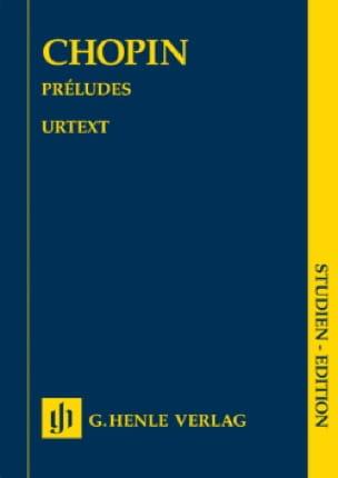 Préludes - CHOPIN - Partition - Petit format - laflutedepan.com