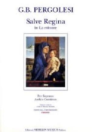 Salve Regina En la Mineur - PERGOLESE - Partition - laflutedepan.com