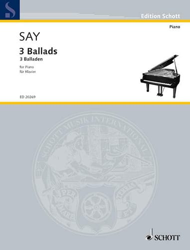 Fazil Say - 3 Ballads - Partition - di-arezzo.co.uk