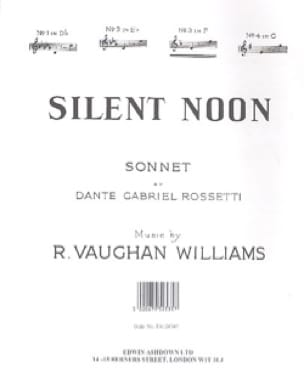 Silent Noon In F - Williams Ralph Vaughan - laflutedepan.com
