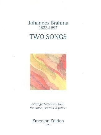 Two songs Op. 91 - BRAHMS - Partition - Clarinette - laflutedepan.com