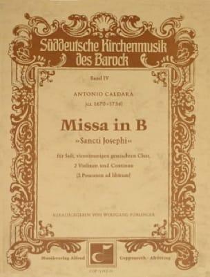 Missa In B Sancti Josephi. Conducteur - CALDARA - laflutedepan.com