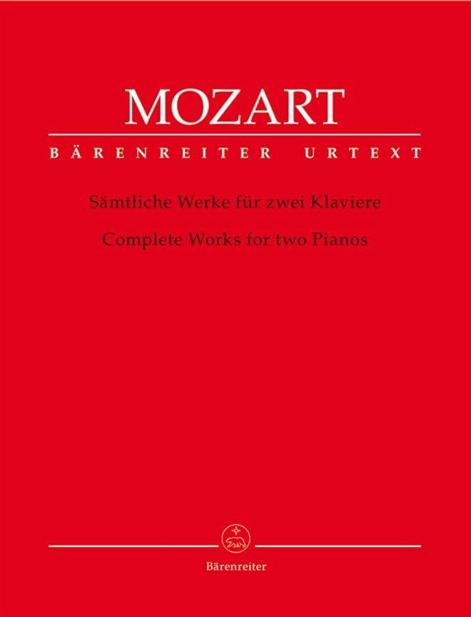 Oeuvre complète pour 2 Pianos - MOZART - Partition - laflutedepan.com