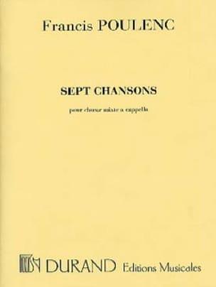 7 Chansons - POULENC - Partition - Chœur - laflutedepan.com