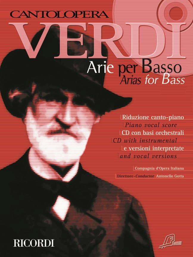 Arie Per Basso - VERDI - Partition - Recueils - laflutedepan.com