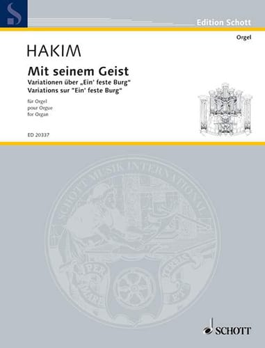 Mit Seinem Geist - Naji Hakim - Partition - Orgue - laflutedepan.com