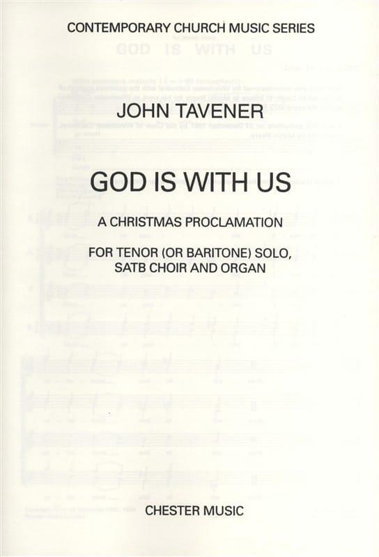 God Is With Us - John Tavener - Partition - Chœur - laflutedepan.com