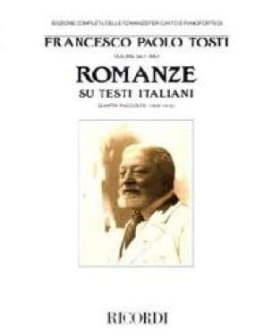 Francesco Paolo Tosti - Romanze Su Testi Italiani Raccolta 4 - Partition - di-arezzo.co.uk