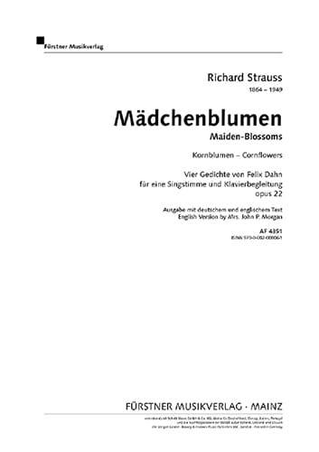 Kornblumen Op. 22-1 - Richard Strauss - Partition - laflutedepan.com